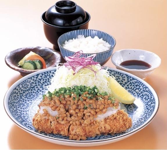 納豆おろしかつ定食